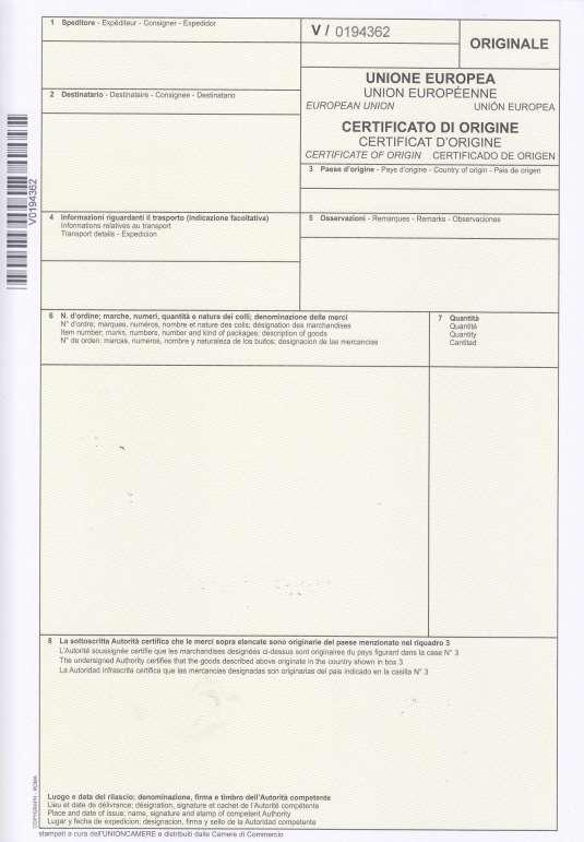 La stampa in ditta con formulario numerato