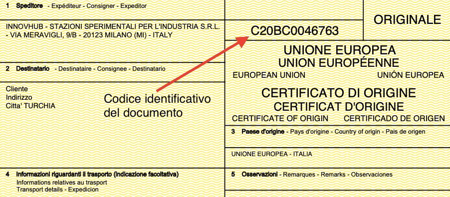 Codice identificativo